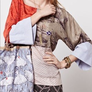 Anthropologie LPO Laurence Maheo Patchwork Top L